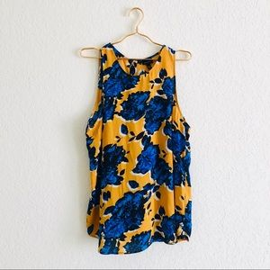 Who What Wear Plus Yellow & Blue Floral Blouse💛💙